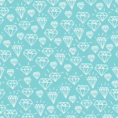Turquoise diamond seamless pattern