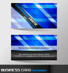Business card template, visiting card