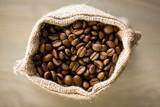 Fototapety coffee beans in burlap sack