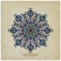 circular pattern mandala old background