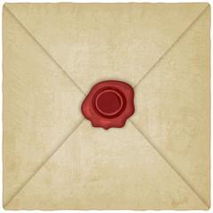 vintage envelope with wax seal