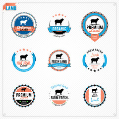 Vector Lamb Labels