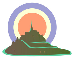 Mont-Saint-Michel cocarde