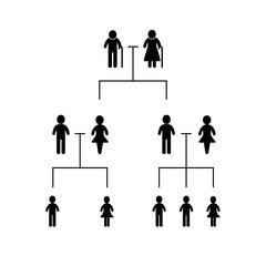 Family tree illustration