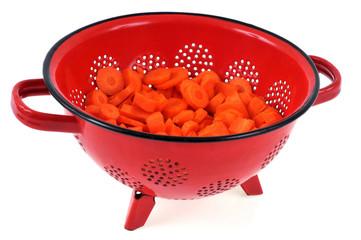 Passoire de rondelles de carottes