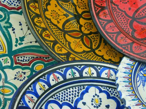 Fotobehang Marokko céramique