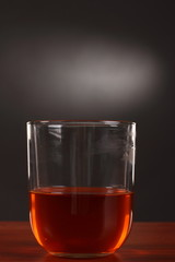 glass of alcohol