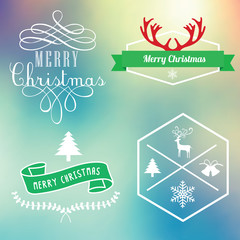 Christmas Labels and Elements