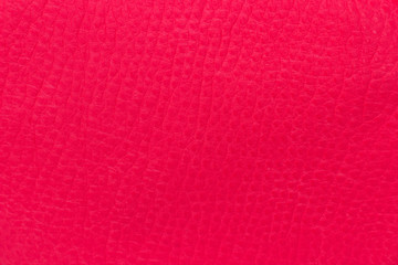 texture of bright red semi-leather
