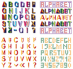three fonts