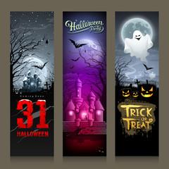 Happy Halloween collections banner vertical design
