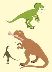 Dinosaurs and tasty stones.