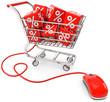 Einkaufswagen rabatt onlineshop