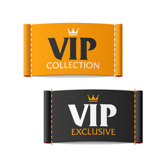 VIP collection and VIP exclusive labels