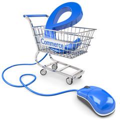 e-commerce einkaufswagen & Maus