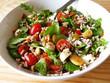 Ensalada fresca de arroz y verduras