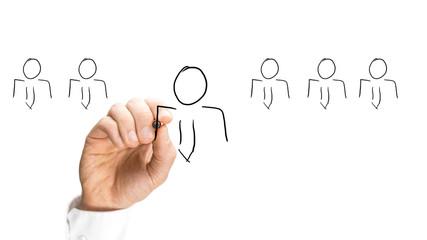 Human Hand Sketching Stick People
