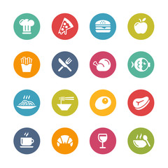 Food and Drink Icons - 1 -- Fresh Colors Series