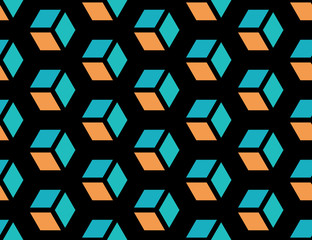 Geometric seamless cube background