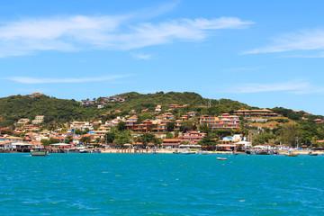 Panoramic view of  beach in Buzios, sea, mountain, Rio de Janeir