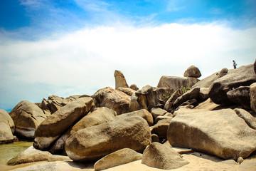 Famous Grandfather rock on Lamai Beach. Koh Samui