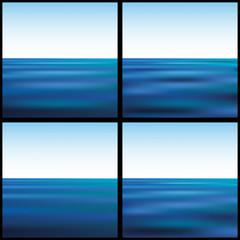 морской пейзаж на фоне неба
