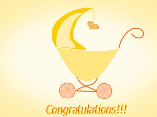 Glückwunsch Baby, Kinderwagen