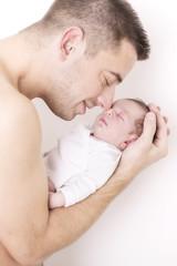 Newborn Vater und Tochter