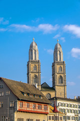 The towers of the Grossmunster in Zurich