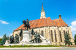 Cluj-Napoca, Romania. Church of Saint Michael is a Gothic-style - 71370913
