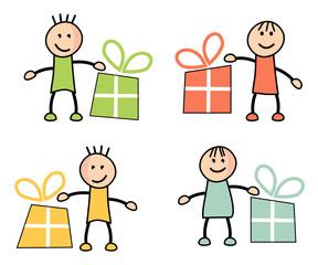 Enfants et cadeaux