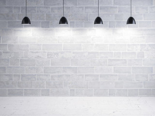 stone wall and floor, light show background