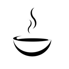 Suppe ohne Unterteller