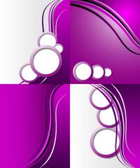 Set of purple backgrounds. design frame line shadow modern web