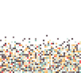 An abstract pixel art style vector background over white