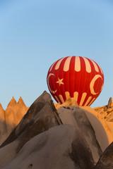 Cappadocia, Turkey. the flight with the balloon at sunrise