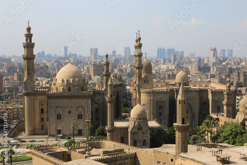 Canvas Bedehuis Mosque-Madrassa of Sultan Hassan. Cairo. Egipt