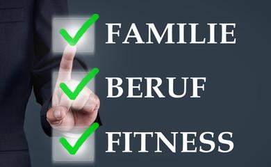 Familie Beruf Fitness