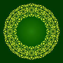 Arabic design- circular border