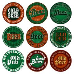 set of beer tags