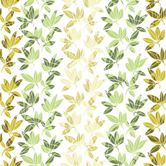 Tropical leaves pattern. Vector illustration