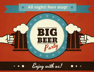 Big deer party poster