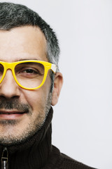 Portrait of a Man with Yellow Eye Glasses