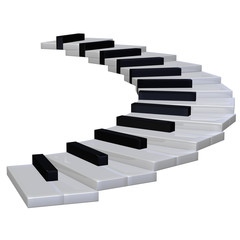 piano stairway 3d