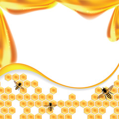 Sweet honey vector illustration, orange background