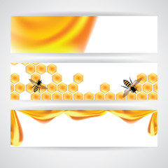 Sweet honey vector illustration, orange illustration banner