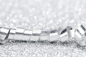 Silver gift ribbon