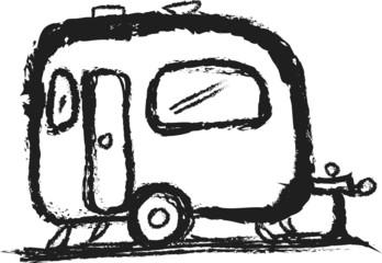 doodle symbol of camper
