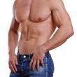 durchtrainierter Männerkörper