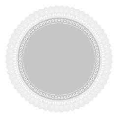 Ornament Serviette Ajour Heirat weiß grau